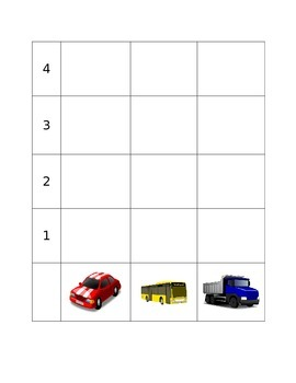 Vehicle Pictogram Math Activity