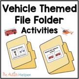 Vehicle Themed File Folder Activities