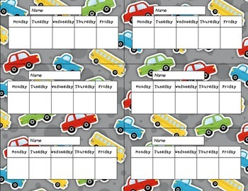Vehicle Themed Weekly Charts