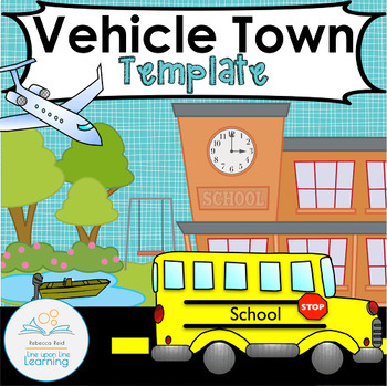 Vehicle Town Template for Imagination Play