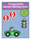 Vehicle Transportation Alphabet File Folder Matching Game