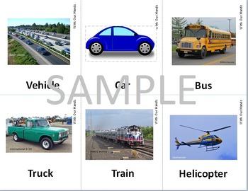 Vehicle Transportation Sign Language (ASL) Cards