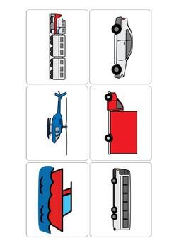 Vehicle flashcards