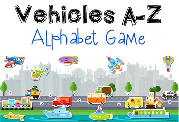 Vehicles & Transportation Alphabet Matching Game A-Z