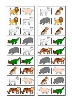 Animal Domino Game Autism Special Education Turn Taking Skills