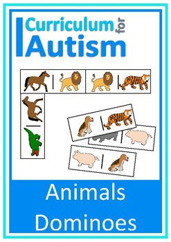 Animals Dominoes Game Autism Speech Therapy
