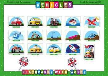 Vehicles - English Flashcards