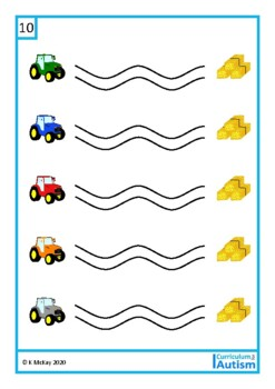 Autism, Fine Motor Pre-Writing Skills, Vehicles, Write & Wipe, Special Education