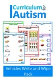 Transportaion Vehicles Basic Concepts Match Count Add Subtract Autism Special Ed