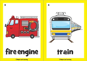 Vehicles & Transportation Flashcards by Maple Leaf ...