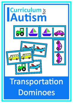 Vehicles Dominoes Game, Turn Taking Skills Autism & Special Education