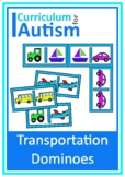 Vehicles Transportation Dominoes Game Autism Special Education Turn Taking