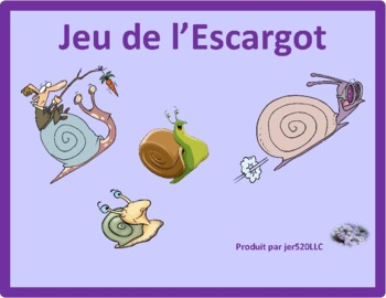 Véhicules (Vehicles in French) Escargot Snail game