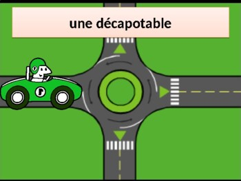 Véhicules (Vehicles in French) power point