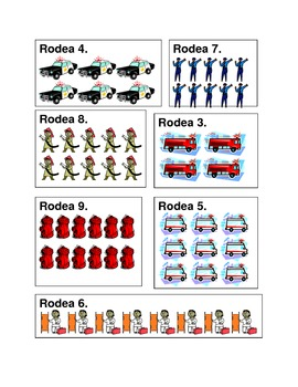 Vehículos de emergencia (Emergency Vehicles in Spanish) Counting Worksheets