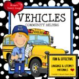 Vehicles Community Helpers Early Reader Speech Prek