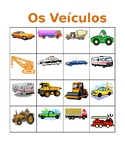 Veículos (Vehicles in Portuguese) Bingo and Flashcards