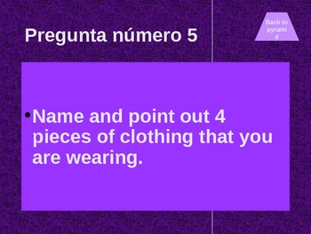 Veintiuno Review game for Spanish II