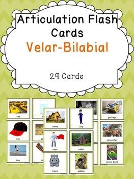 Apraxia & Articulation Cards Velar-Bilabial