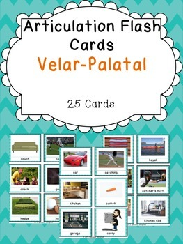 Apraxia & Articulation Cards Velar-Palatal