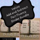 Velcro Addition/Subtraction Facts Fluency Binder Independe