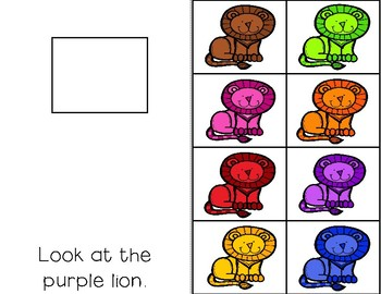 STICK IT! Colorful Cats and Playdough- Comprehension Books for Special Education