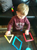 Velcro Craft Sticks To Practice Making Shapes