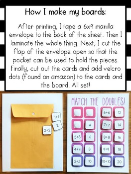 Velcro Matching Cards - Math GROWING BUNDLE!