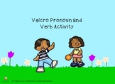 Velcro Pronoun and Verb Activity
