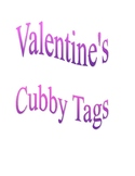 Valentine's Day Cubby Tags