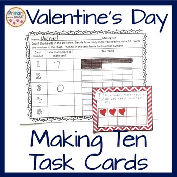 Valentine's Day Making Ten or Sets of Ten