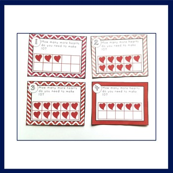 Making Ten or Sets of 10 Valentine's Day Activity and Center