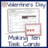 Making Ten or Set of 10 Valentine's Day Activity and Center