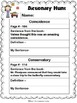 Velma Gratch and the Way Cool Butterfly 2nd Grade ELA CCGPS Unit 3 - WORKSHEETS
