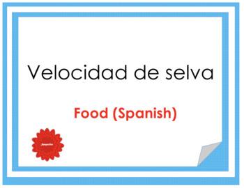 Velocidad de Selva - Food game