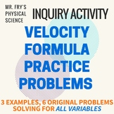 Velocity Formula Practice Problems - Solving for all variables!