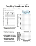 Velocity Airplane Ride - Determine Slope and Area under Curve = Displacement