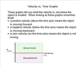 Velocity Graphs Introduction (SmartBoard)