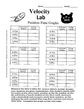 Velocity Lab Position Time Graph