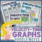 Velocity-Time Graphs Doodle Notes Bundle for Physics (Speed-Time Graphs)
