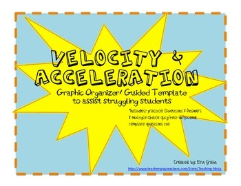 Velocity and Acceleration Graphic Organizer