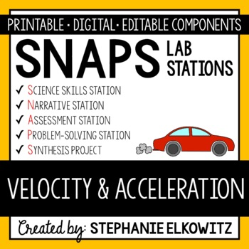 Velocity and Acceleration Lab Stations Activity