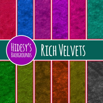 Velvet Fabric Backgrounds / Digital Papers / Patterns Clip Art Commercial Use