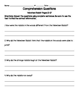 Velveteen Rabbit Comprehension Questions