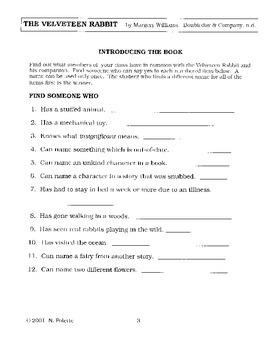 Velveteen Rabbit Literature Guide