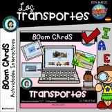 Vemos TRANSPORTES y letra E- Boom Cards Distance Learning