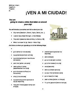 """Ven a mi ciudad"" (Come to My City) Project"