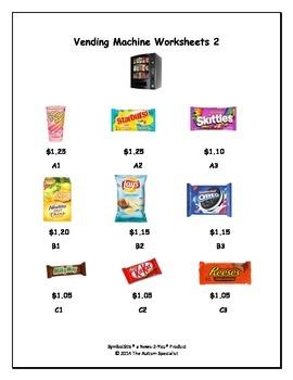 Vending Machine Task Cards, Worksheets, Task Analysis Data Sheet, & Rubric