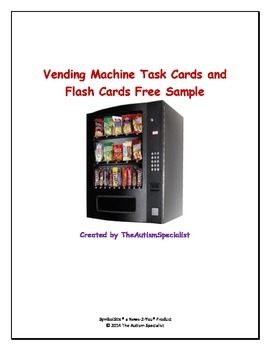 Vending Machine Task Cards, Worksheets, Task Analysis Data Sheet, & Rubric