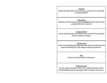 Vendler Analysis Flipchart